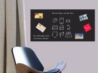 160 x 80 cm   Selbstklebende magnetische Tafelfolie   Kreide und Kreidestift   schwarz