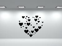 Herz aus Herzen Wandtattoo