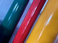 Beschreibbare, selbstklebende, bunte, Farbfolie auf Rolle