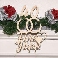 Zwei Namen mit Eheringe aus Birkenholz   Hochzeitstag