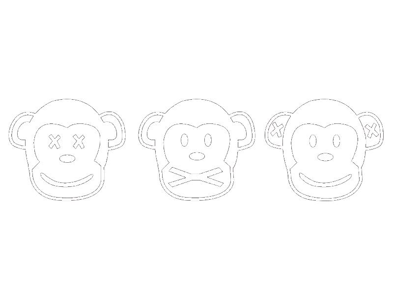 Drei Affen Nichts Sehen Nichts Sagen Nichts Hören Wandtattoo Zitronengelb Glänzend 8909 12 Ffe300 S 40 X 11 Cm Nicht Gespiegelt