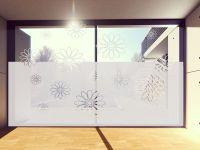 Sichtschutzfolie | Fensterfolie Blümchen | Blümchenoptik