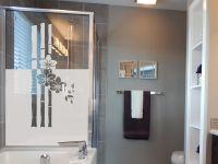 Sichtschutzfolie | Fensterfolie Bambus mit Orchidee | Bambus-Orchideen-Optik