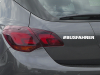 #Busfahrer Autoaufkleber