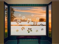 Sichtschutzfolie | Fensterfolie Paradiesblumen | Paradiesblumenoptik