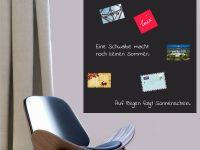 100 x 100 cm | Hochwertige selbstklebende magnetische Tafelfolie | Kreide und Kreidestift | schwarz Vorschau1