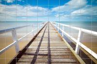 Pier am Strand Fliesenbild