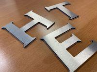 3D - Alu-Verbund-Buchstaben Aluminium gebürstet | 3mm stark