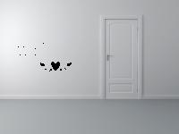 Willkommen mit Herz Wandtattoo