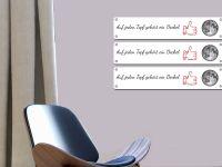 50 x 10 cm (3 Stk) | Magnetisches Whiteboard | weiß mit Bohrungen