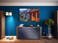 Möbelfolie für Kommode kobaltblau matt