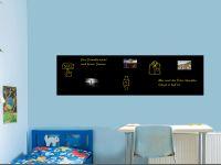 220 x 60 cm | Hochwertige selbstklebende magnetische Tafelfolie | Kreide und Kreidestift | schwarz Vorschau1