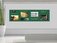 350 x 100 cm | Selbstklebende, bunte, magnetische Farbfolie | Whiteboard + Tafel Ersatz dunkelgruen Vorschau