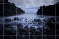 Steine an der Küste Fliesenbild