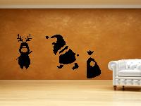 Weihnachtsmann mit Elch Wandtattoo