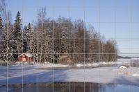 Sauna in Schweden Fliesenbild