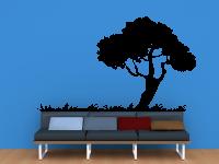 Baum mit Gras | Laubbaum mit Gras Wandtattoo