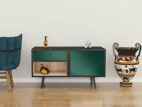 Möbelfolie für Sideboard dunkelgrün matt