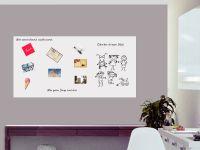 200 x 100 cm | Selbstklebende magnetische Whiteboardfolie | Whiteboard | weiß