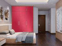 Möbelfolie für Schrank pink glänzend