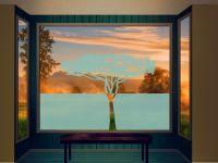 Sichtschutzfolie | Milchglasfolie Sichtschutz Baum | Baumoptik