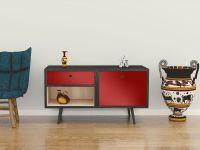 Möbelfolie für Sideboard signalrot glänzend