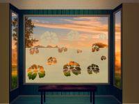 Sichtschutzfolie | Glasdekorfolie Veilchen | Veilchenoptik
