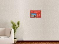 DIN A4 | Selbstklebende, bunte, magnetische Farbfolie | Whiteboard + Tafel Ersatz rot Vorschau