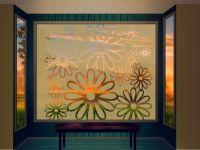 Sichtschutzfolie | Fenstertattoo Blueten | Bluetenoptik