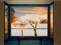 Sichtschutzfolie | Fensterfolie Savannenbaum | Savannenbaumoptik