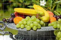 Fruchtschale Fliesenbild