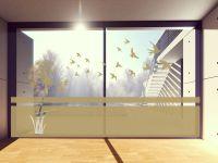 Sichtschutzfolie | Fensterfolie Vögel | Vögeloptik