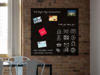 120 x 120 cm | Hochwertige selbstklebende magnetische Tafelfolie | Kreide und Kreidestift | schwarz Vorschau1