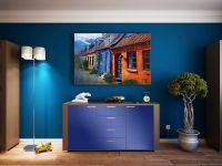 Möbelfolie für Kommode königsblau glänzend