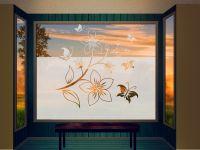 Sichtschutzfolie | Fensterfolie Verspieltes Ornament | Verspieltes Design