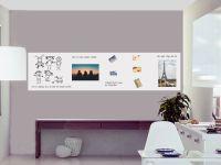 400 x 100 cm | Selbstklebende magnetische Whiteboardfolie | Whiteboard | weiß