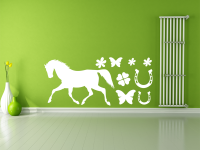 Pferd Wandtattoo