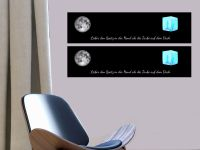 80 x 20 cm (2 Stk) | Hochwertige selbstklebende magnetische Tafelfolie | Kreide & -stift | schwarz Vorschau1