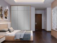 Möbelfolie für Schrank grau matt