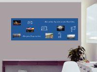 180 x 60 cm | Selbstklebende, bunte, magnetische Farbfolie | Whiteboard + Tafel Ersatz blau Vorschau