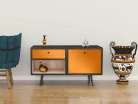 Möbelfolie für Sideboard sonnenblumengelb glänzend