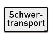 Reflektierendes Schild Schwertransport Begleitfahrzeug
