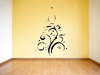 Weihnachtsbaum aus Ornamente Wandtattoo