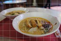 Chinesische Suppe Fliesenbild