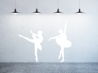 Ballerina-Set Wandtattoo