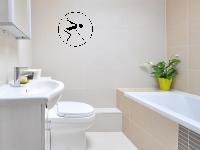 """Badezimmer-Wandtattoo """"Nicht vom Beckenrand springen!"""""""