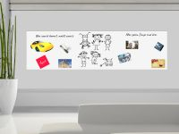 220 x 60 cm | Selbstklebende magnetische Whiteboardfolie | Whiteboard | weiß