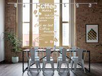 Sichtschutzfolie | Milchglasfolie Kaffee | Kaffeedesign