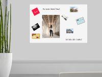 150 x 100 cm | Selbstklebende magnetische Whiteboardfolie | Whiteboard | weiß
