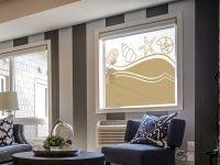Sichtschutzfolie | Fensteraufkleber Muscheln | Muscheloptik